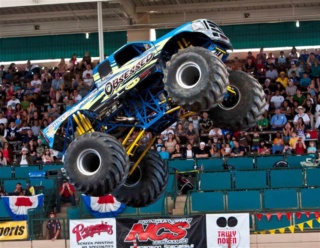 350819 bytes; 640 x 495; SWANSON 15.   CUTLINE: Rick and Eric Swanson, of Menifee, compete in monster trucks. They will compe