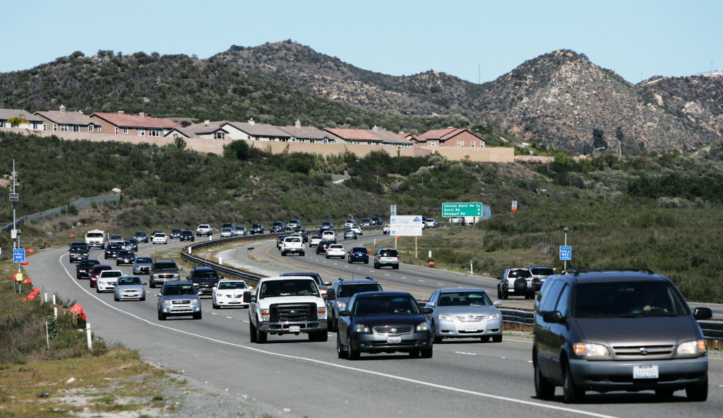 2683404 bytes; 3504 x 2028; SFREEWAY08 Traffic moves along Interstate-215 in Murrieta on Monday. Construction will start next mo