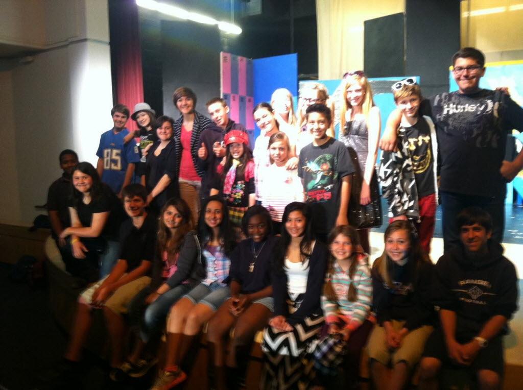 145237 bytes; 1296 x 968; Santa Rosa Academy students pose for a cast photo for the original play 'It's OK2BU.'