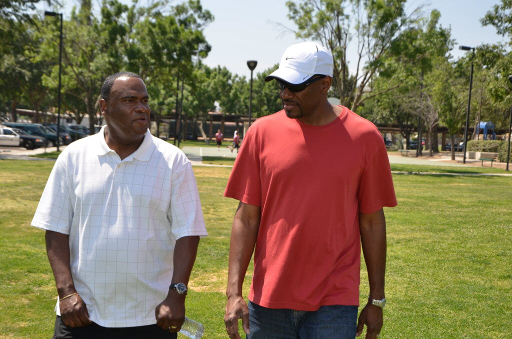 1225650 bytes; 4928 x 3264; Walkers included Andre Mitchell, a Perris resident who co-founded the P-Town Combat Sports Academy,
