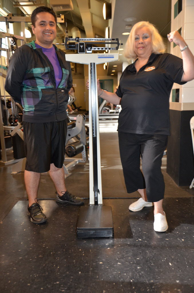 1167535 bytes; 3264 x 4928; Perris City Councilman Julio Rodriguez and City Councilwoman Rita Rogers at the City gym prior to th