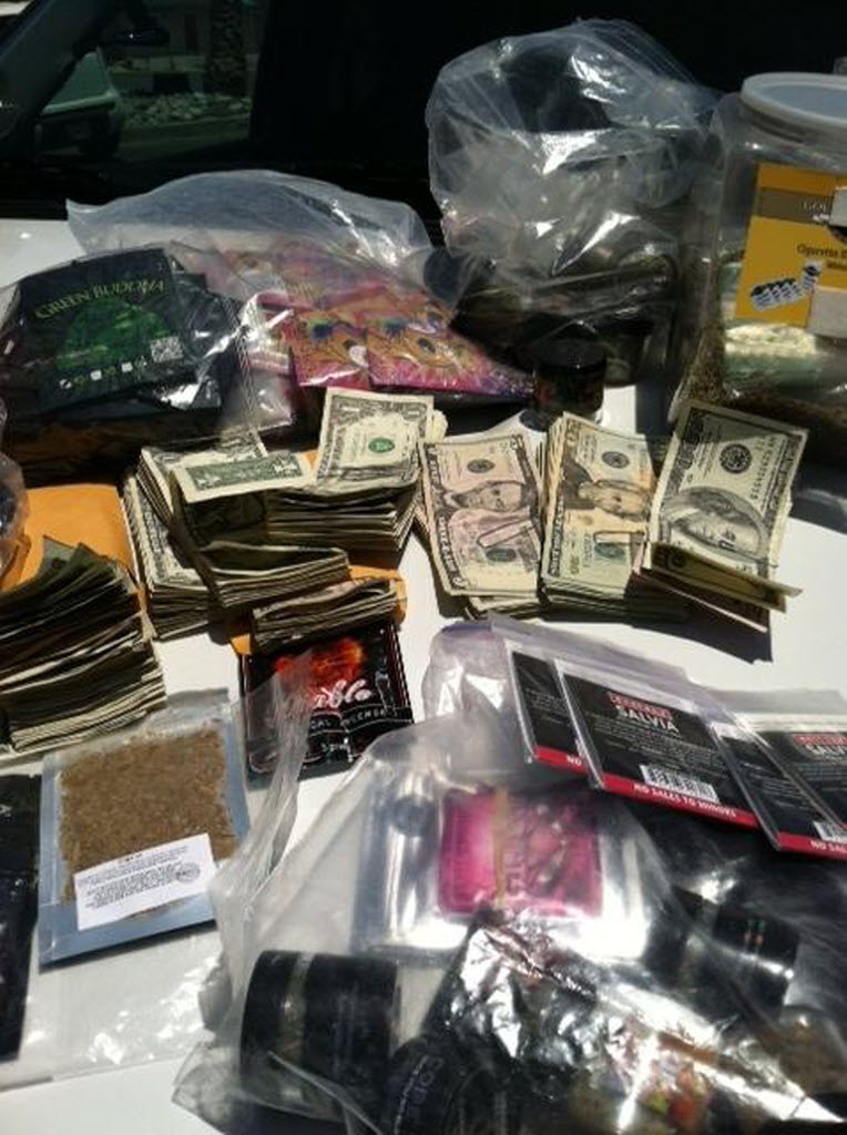 60283 bytes; 478 x 640; Synthetic drugs known as bath salts and spice are displayed after being seized from several High Des