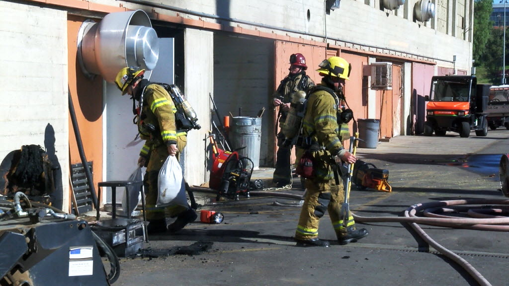 692991 bytes; 1280 x 720; Fightersfighters respond to a fire inside a maintenance room at RCC