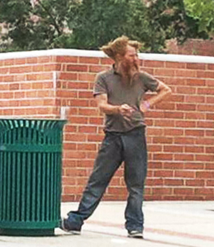 1837238 bytes; 2610 x 3000; This undated photo provided by Ron Thomas shows his son, Kelly Thomas, while he was homeless. It's b